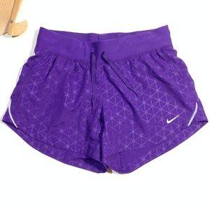 Nike Dri-Fit Shorts Swim Bottom Purple Runner XS